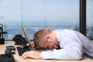 tired salesperson